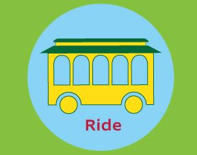TROLLEY RIDE SYMBOL